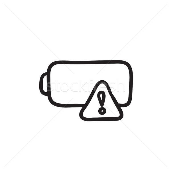 Empty battery sketch icon. Stock photo © RAStudio
