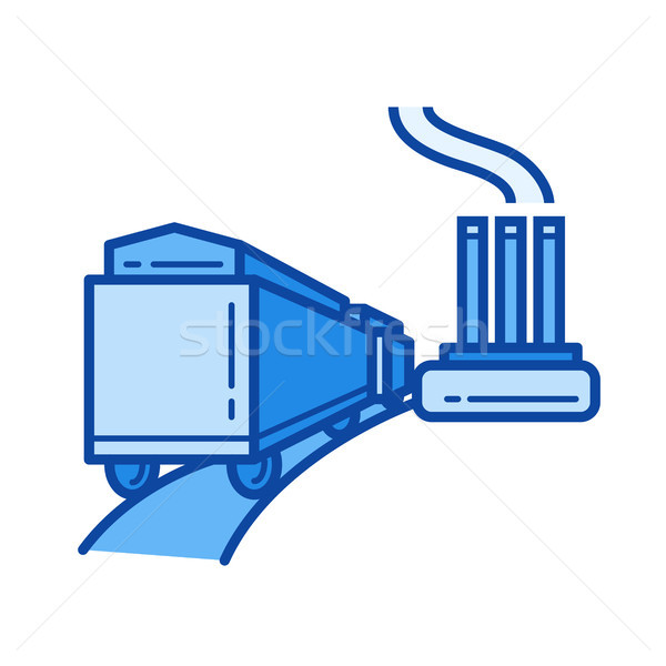 Power plant line icon. Stock photo © RAStudio