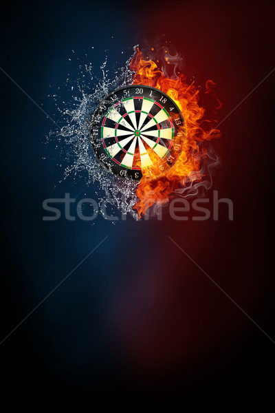 Darts sportok verseny modern poszter sablon Stock fotó © RAStudio