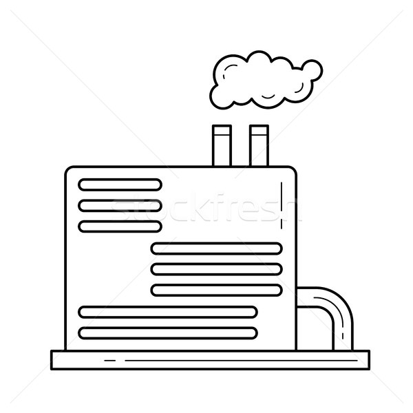 Refinery plant vector line icon. Stock photo © RAStudio