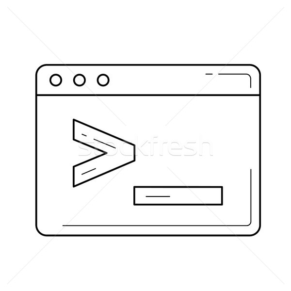 Browser window with coding commands line icon. Stock photo © RAStudio