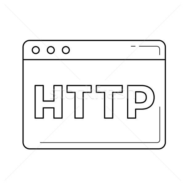 Http line icon. Stock photo © RAStudio