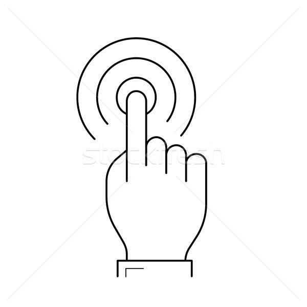 Ekran dotykowy kliknij line ikona wektora odizolowany Zdjęcia stock © RAStudio