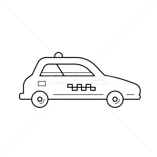 Táxi carro linha ícone vetor isolado Foto stock © RAStudio