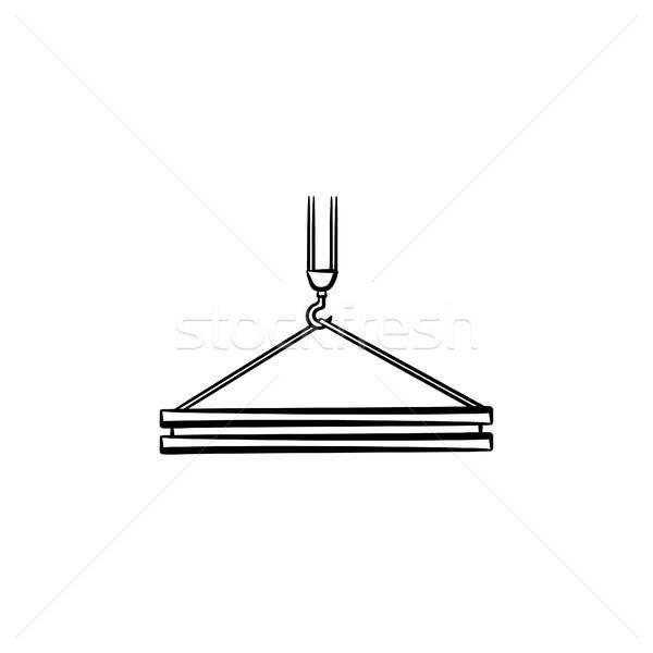 Guindaste gancho esboço ícone Foto stock © RAStudio