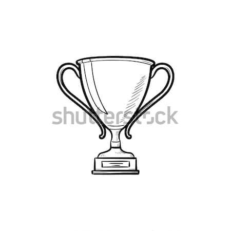 Trophy cup hand drawn outline doodle icon. Stock photo © RAStudio