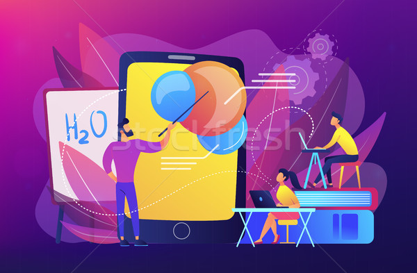Augmented reality in education concept vector illustration. Stock photo © RAStudio