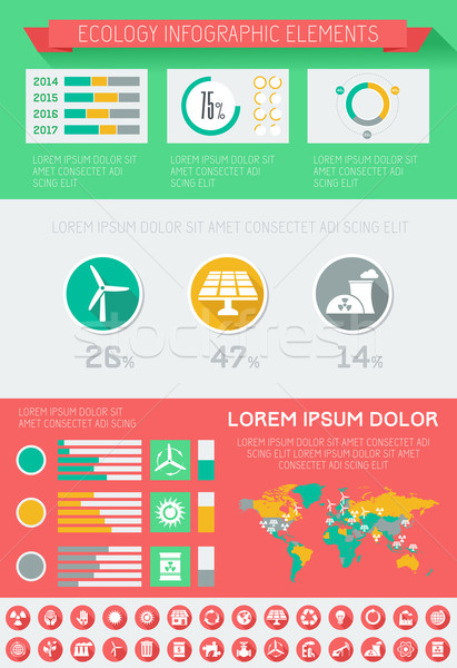 Ecology Infographic Template. Stock photo © RAStudio