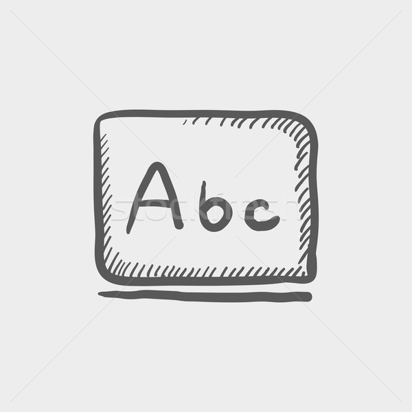 Letters abc in blackboard sketch icon Stock photo © RAStudio