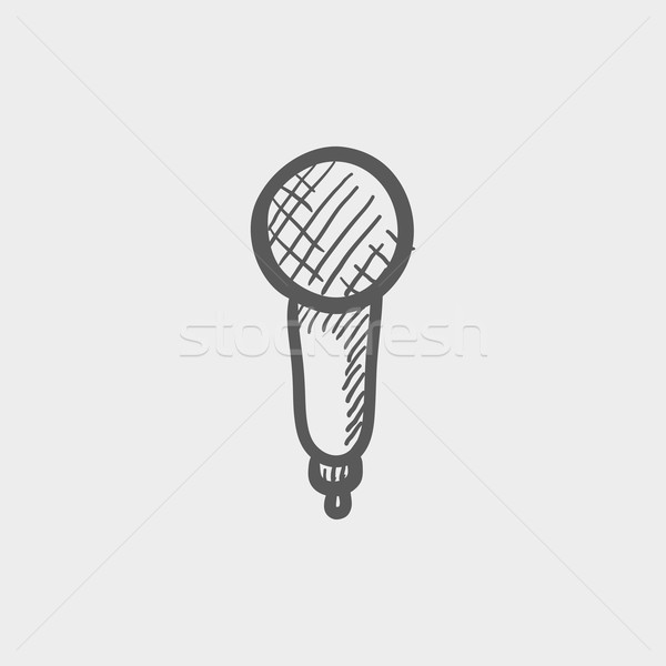New microphone sketch icon Stock photo © RAStudio