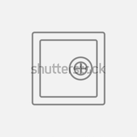 Safe line icon. Stock photo © RAStudio