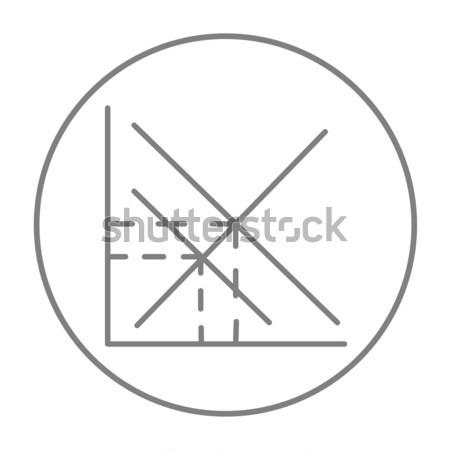 Mathematical graph line icon. Stock photo © RAStudio