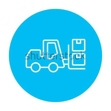 Targonca vonal ikon szállítás dobozok háló Stock fotó © RAStudio