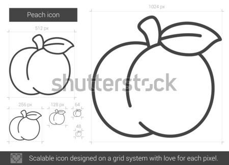 Appel lijn icon web mobiele infographics Stockfoto © RAStudio