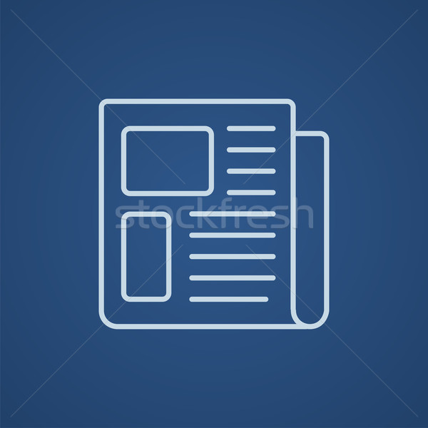 Krant lijn icon web mobiele infographics Stockfoto © RAStudio