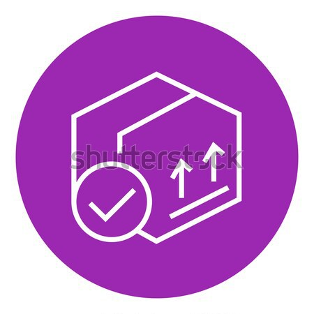 Carton package box line icon. Stock photo © RAStudio