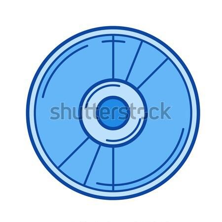 Disc line icon. Stock photo © RAStudio