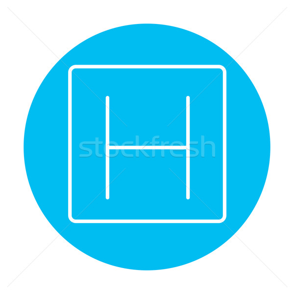 Hospital sign line icon. Stock photo © RAStudio