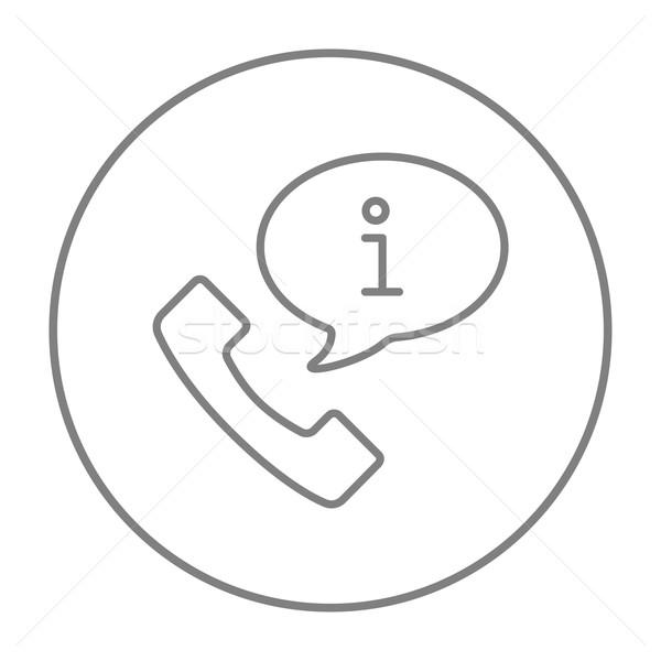 Stock fotó: ügyfélszolgálat · vonal · ikon · telefonkagyló · információ · jel · háló