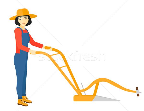 農家 鋤 アジア ベクトル デザイン 実例 ストックフォト © RAStudio