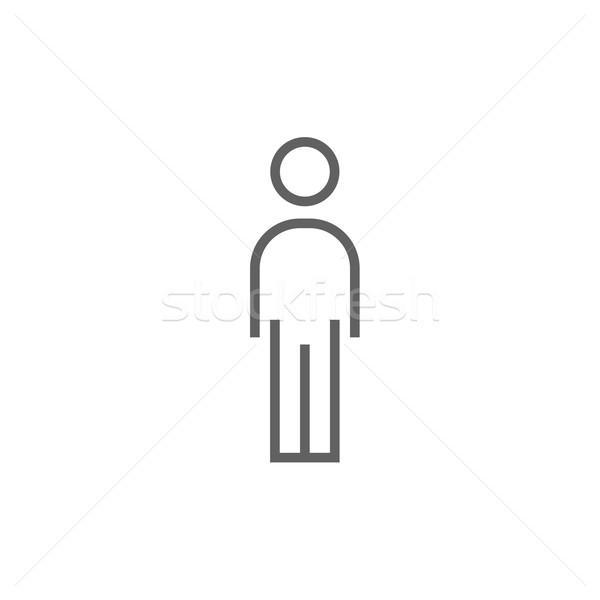 Businessman standing line icon. Stock photo © RAStudio