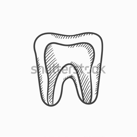 Molar tooth sketch icon. Stock photo © RAStudio