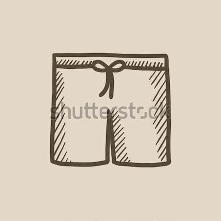 Swimming trunks sketch icon. Stock photo © RAStudio