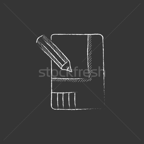 Layout of the house. Drawn in chalk icon. Stock photo © RAStudio