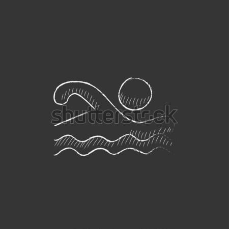 Solar energy and hydropower. Drawn in chalk icon. Stock photo © RAStudio