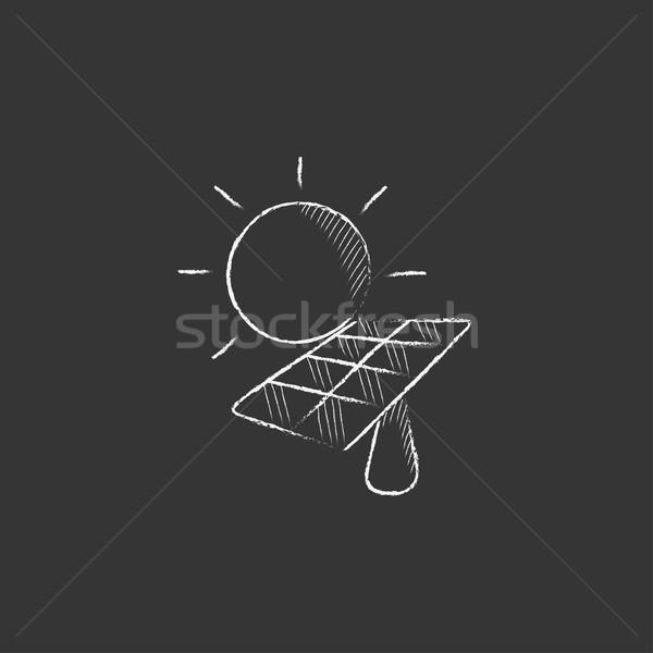 太陽エネルギー チョーク アイコン 太陽 ストックフォト © RAStudio