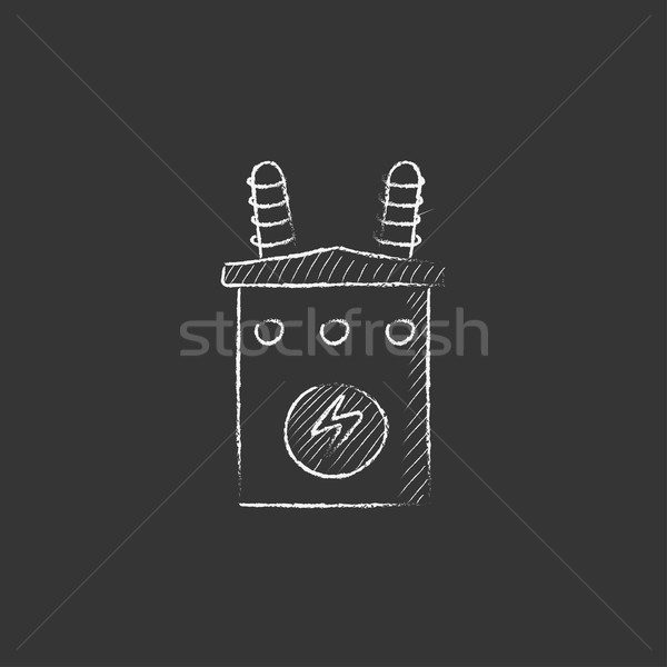 Transformatör tebeşir ikon Stok fotoğraf © RAStudio
