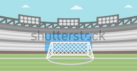 Background of football stadium. Stock photo © RAStudio