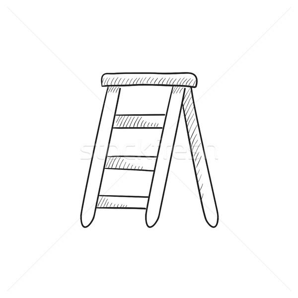 Stepladder sketch icon. Stock photo © RAStudio