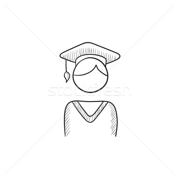 Graduate sketch icon. Stock photo © RAStudio