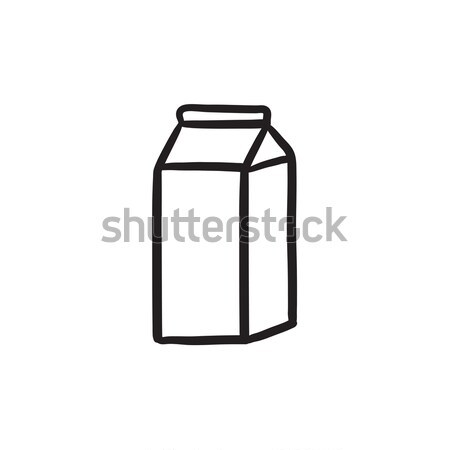 Packaged dairy product sketch icon. Stock photo © RAStudio