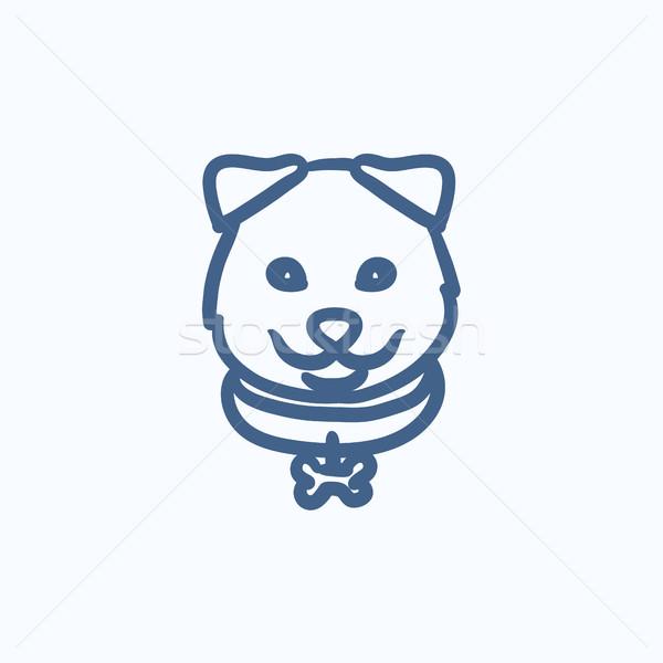 Dog head sketch icon. Stock photo © RAStudio