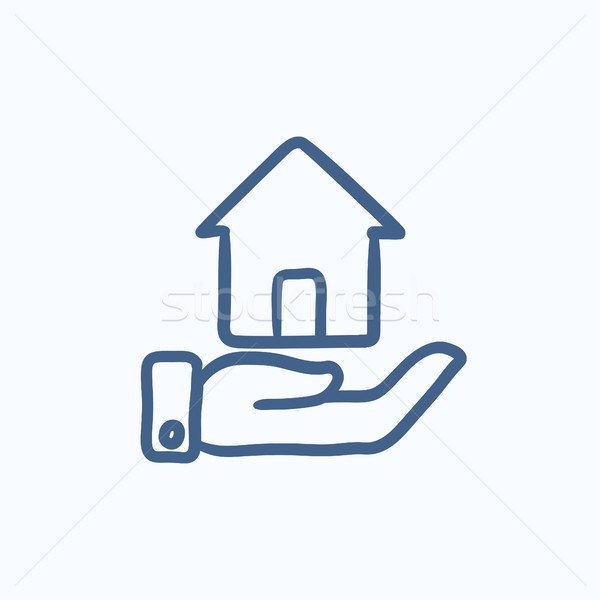House insurance sketch icon. Stock photo © RAStudio