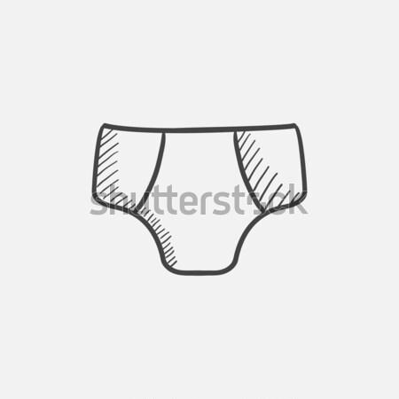Mannelijke schets icon vector geïsoleerd Stockfoto © RAStudio