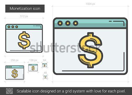 Monetization line icon. Stock photo © RAStudio