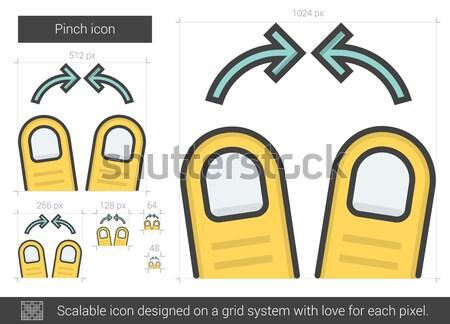 Pinch line icon. Stock photo © RAStudio