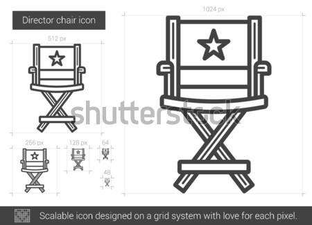 директор Председатель линия икона вектора изолированный Сток-фото © RAStudio