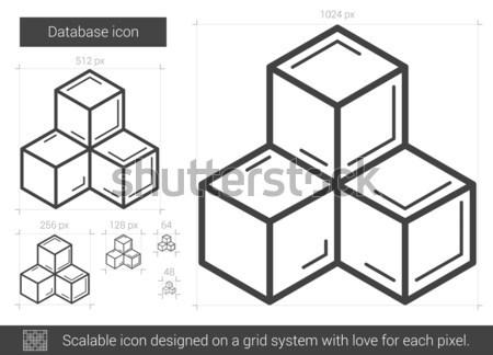 Banco de dados linha ícone vetor isolado branco Foto stock © RAStudio