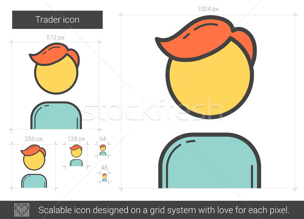 Trader line icon. Stock photo © RAStudio