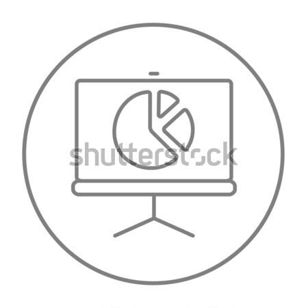 画面 円グラフ スケッチ アイコン ベクトル 孤立した ストックフォト © RAStudio