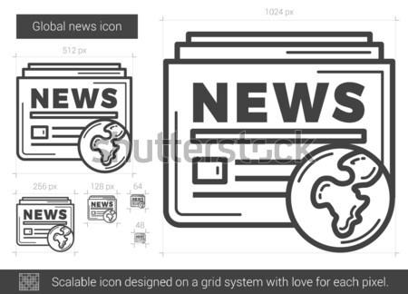 Global news line icon. Stock photo © RAStudio