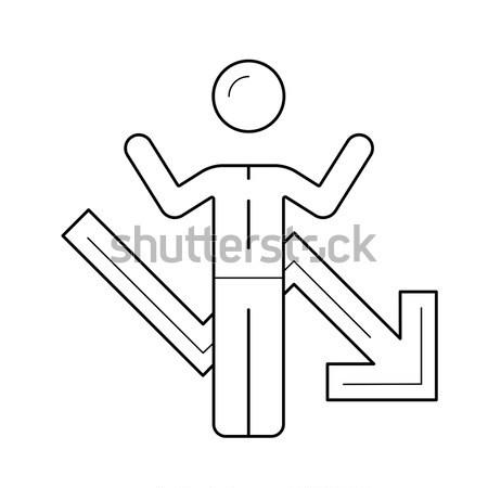 бизнеса провал линия икона вектора изолированный Сток-фото © RAStudio
