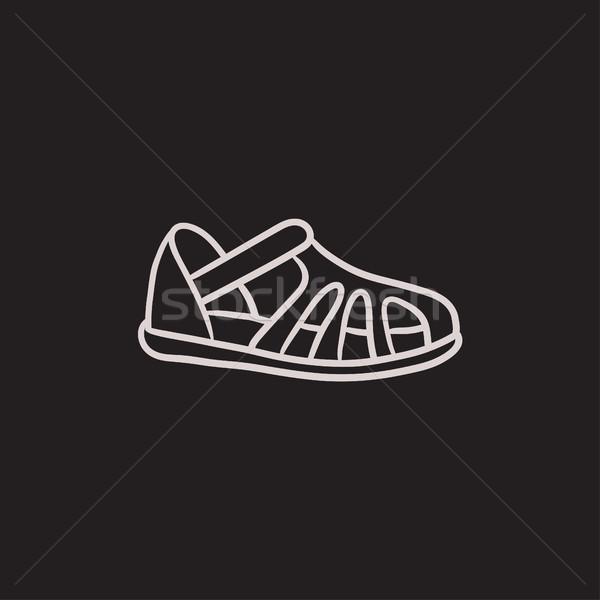 Schets icon vector geïsoleerd Stockfoto © RAStudio