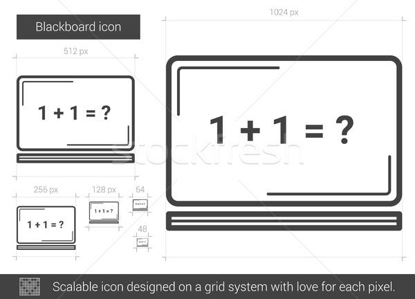 Stockfoto: Blackboard · lijn · icon · vector · geïsoleerd · witte