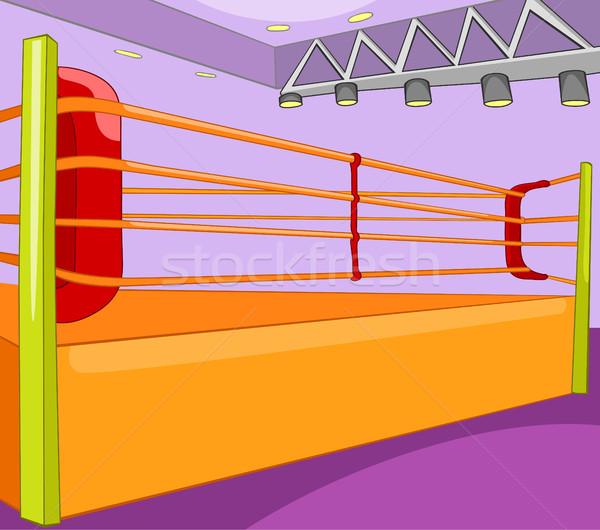 Cartoon background of boxing ring. Stock photo © RAStudio