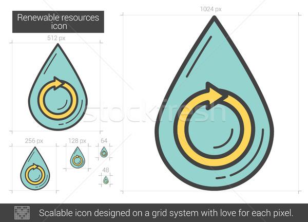 Renewable resources line icon. Stock photo © RAStudio